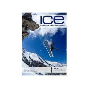 Ice Matte Coated A4 Self Adhesive Inkjet Photo Paper 120gsm - 100 Sheets (4pks)