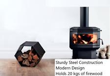 Metal Firewood Rack Modular Log Storage Stand Fireplace Burner Holder Wood store