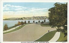 America Postcard - Back Bay from Baxter Blvd. - Portland - Maine   BH5837