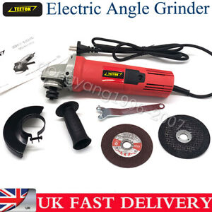 Small Mini Electric Angle Grinder 125mm 850W Grinding Sawing 2 Cutting Discs
