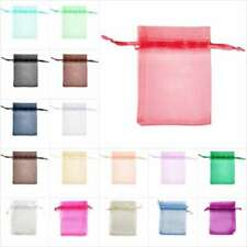 20/40/60pcs 7x9cm Premium Organza Gift Bags Rectangle Jewellery Pouches CABB1