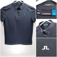 J LINDEBERG Slim Fit Mens 2XL XXL Golf Shirt Polo 100% Cotton