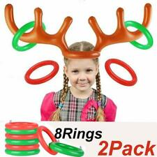 2X Inflatable Reindeer Antler Ring Toss Game Christmas Holiday Party Favor Toy