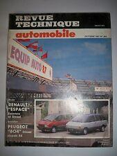 RENAULT Espace essence diesel (PEUGEOT 604) - Revue Technique Automobile