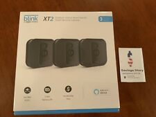 Blink XT2 3-Camera Indoor Outdoor 1080p Smart Home Security System W/ Storage