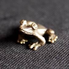 Frog miniature Figurine Statue brass Lucky animal Charm Rich Lucky Happy DBF