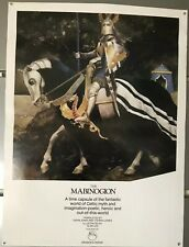 original vintage promotional poster for The Mabinogion Alan Lee FREE SHIPPING
