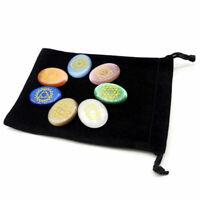 7Pcs/Set Engraved Spiritual Healing Meditation Energy Stones Reiki Protective