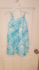 "Girls ""Gymboree"" dress size 6 new with tags blue and white foral"