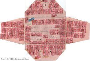 Italy 119 x 100 Lire Democratica World Record Franking Cover to Sydney Australia