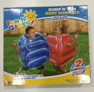 Banzai Bump N Bounce Body Bumpers N Red, Blue, 2 Bumpers