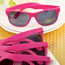 Hot Pink Plastic Sunglasses Beach Pool Wedding Bridal Shower Party Favors
