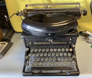 Antique REMINGTON NOISELESS 6 TYPEWRITER Un-Restored. Everything Works!