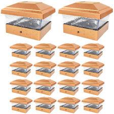 18 Copper Outdoor 5 x 5 Solar LED Post Deck Cap Square Fence Light Landscape