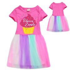 Kids Girls Rebecca Zamolo Pink Cupcake Dresses Lace Tutu Princess Rainbow Dress