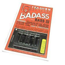 Black Badass III Bass Bridge for String Thru Fender P/J/Tele Bass® BB-0336-003