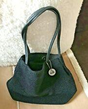 "The SAK Hand Crocheted Casual Classics Black Handbag 10"" x 8"" x 3"" deep VGC"