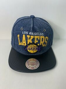 Lakers Mitchell And Ness Cap Adjustable Sample Cap Hat
