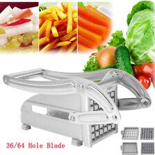 Stainless Steel French Fry Cutter Chopper Vegetable Potato Slicer Dicer 2 Blades