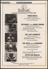 ACONITO FILMS__PAUL NASCHY__Orig. 1984 Trade AD promo__Beast and the Magic Sword
