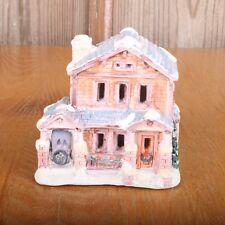Christmas Village Clap Board Porcelain House