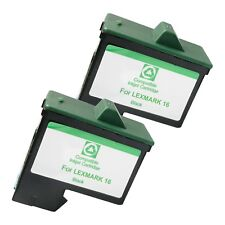 2 BLACK LXM16 Ink Cartridges for Lexmark i3 X1110 1130 1150 1185 1190 1240 1270