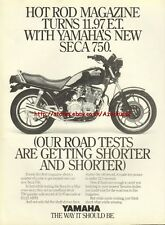 Yamaha Seca 750 Motorcycle 1981 Magazine Advert #3685