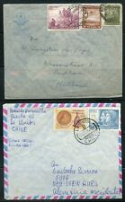 CHILE LOT OF 7 AIR MAIL COVERS TO GERMANY UK, & NEW ZEALAND 1936-70 AS SHOWN
