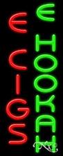 "NEW ""E CIGS E HOOKAH"" 32x13 VERTICAL REAL NEON SIGN W/CUSTOM OPTION 11547"