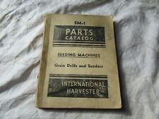 International Harvester Seeding Machines Grain Drills Seeders Parts Catalog