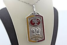San Francisco 49ers Vtg Sterling Silver & Gold 5x Super Bowl Champions Pendant
