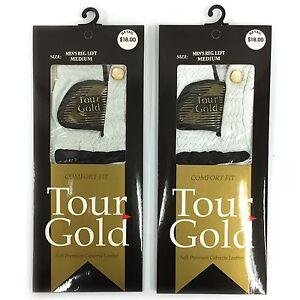 Tour Gold Premium Cabretta Leather Golf Gloves (2 Pack)