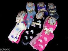 BULK 6 Pairs Womens Ladies Girls Bed Socks Size 2-8 Assorted New (P2)