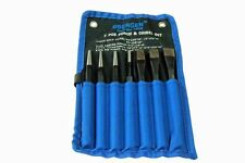 BERGEN 7pc PUNCH & CHISEL SET Tapered, Parallel & Center Punches, Cold Chisels