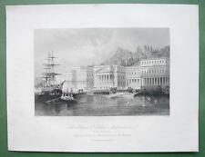 TURKEY Palace of Sultan Mahmoud - ALLOM 1840s Original Engraving Print