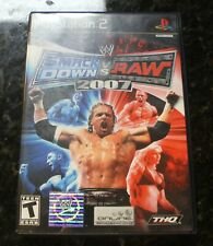 WWE Smackdown VS Raw 2007 PlayStation 2 PS2 - W Manuel - Tested & Works!