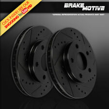 FRONT BLACK DRILLED SLOTTED BRAKE ROTORS 94 - 96 97 98 99 00 01 02 03 04 Mustang