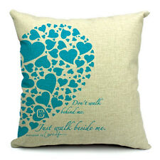Mrs and Mr Love Cushion Covers Cotton Linen Throw Pillow Case Home Decor #12