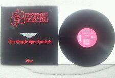 SAXON THE EAGLE HAS LANDED FRANCE 1982 IMPORT VINYL 12 INCH LP LIVE !!!