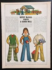 Betsy McCall Mag. Paper Doll, Betsy McCall Visits a Cider Mill, Sept. 1979