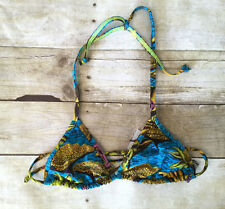 NWT Bantu Wax for J.Crew Stir It Up bikini top in frog print A8080 $79 Swim Sz S
