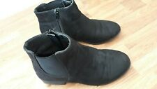 New look black ankle boots size 3 wide fitting