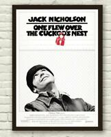 Vintage One Flew Over The Cuckoo's Nest Movie Film Poster Print Picture A3 A4