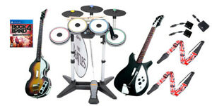 PS4 Rock Band 4 The Beatles *Drums*3X Pro-Cymbals*Hofner & Rickenbacker*RB4 Game