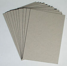 10 x A4 Greyboard Sheets 1mm / 1000 micron - model buildings, mountboard, crafts