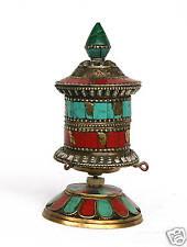 BUDDHA Gebetsmühle Mani-Mühle Mantra Tibet Indien Klangschale  M90B