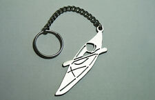 Stainless Steel Laser Cut Keychain Keyring Keyfob Kayak Sport Best Gift