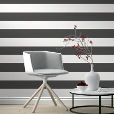 Black and White Stripe Wallpaper by Rasch Just Me Range 286694