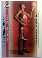 2003 03-04 Upper Deck Phenomenal Beginning LeBron James Rookie RC #1, Cavs MVP