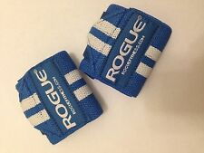 """Rogue Fitness Wrist Wraps, Short 12"""", Blue, Power/Weight Lifting, Crossfit, WOD"""
